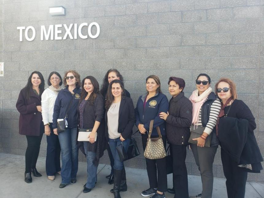 Latino Caucus Detention Facility Tour members